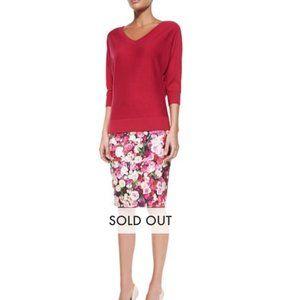 kate spade Rose Print Pencil Skirt size 2 nwot